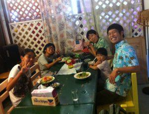 5人家族で記念日の外食ランチ