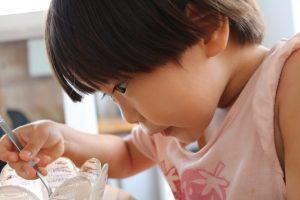 smakaka lunch デザートアイスに喜ぶ3歳児3