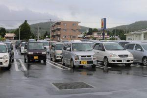 すごい混んだ駐車場