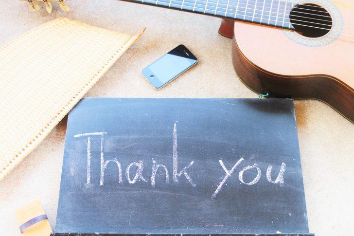 thankyouとギターとスマホと団扇