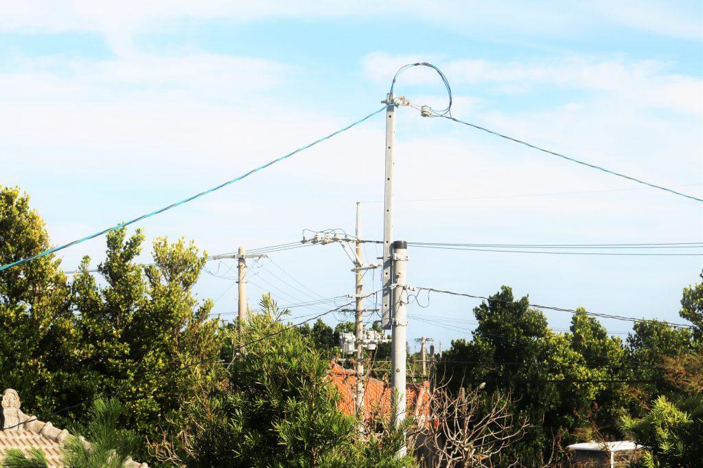 電柱の風景