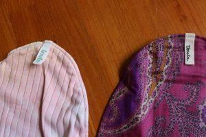 タグが変わっていたtoutaの布ナプキン