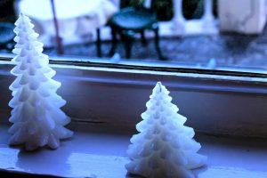 冷たいクリスマスツリー