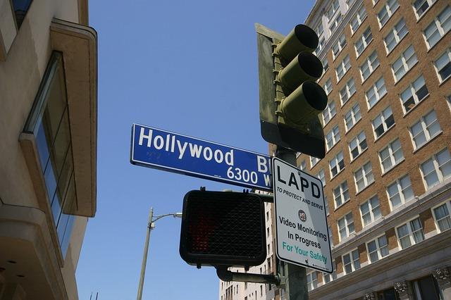 ハリウッドの街路看板