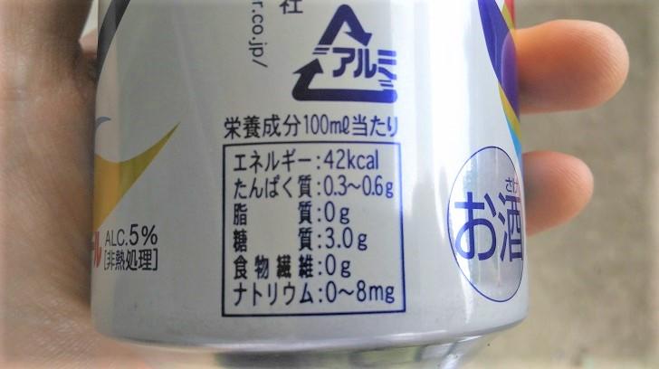 オリオンビールの成分表示