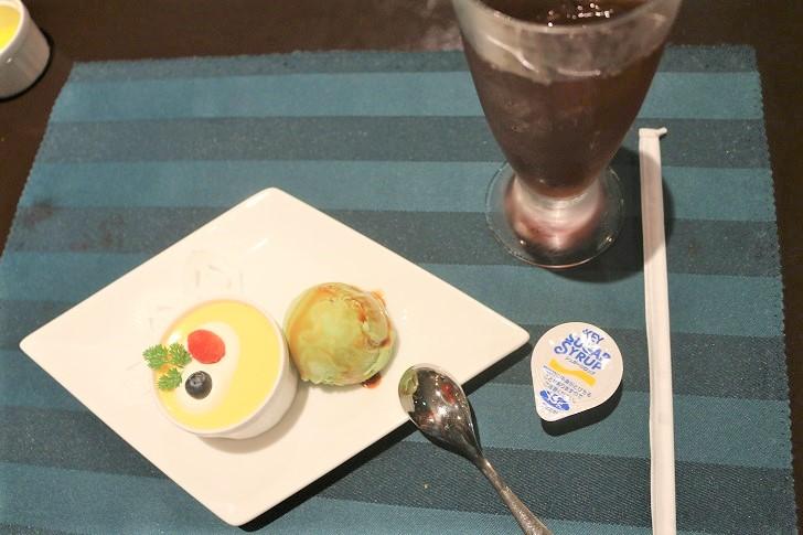 デザートとアイスティー
