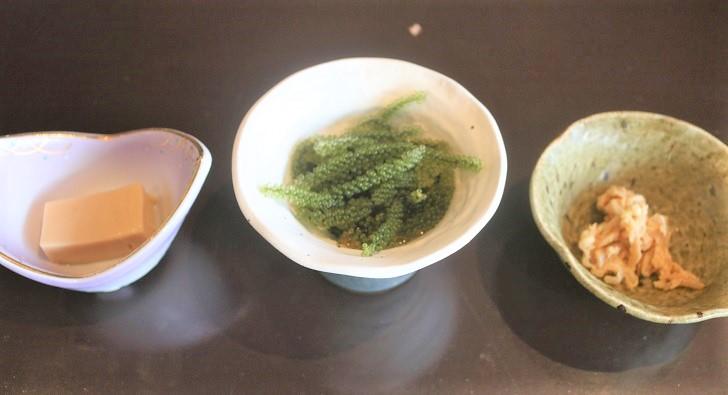 和食の小皿3つ