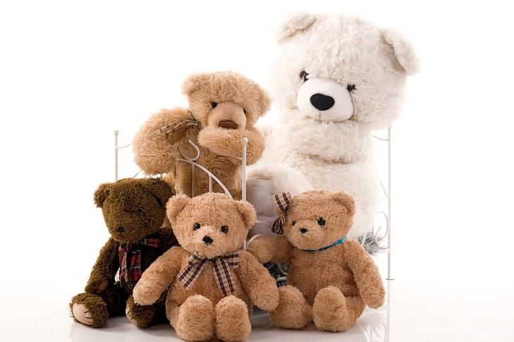 熊の人形の家族