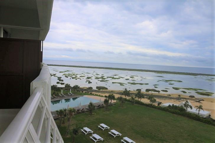 ホテルのベランダからの風景