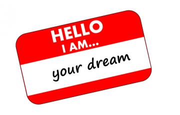 HELLO I AM your dream と書かれたシール