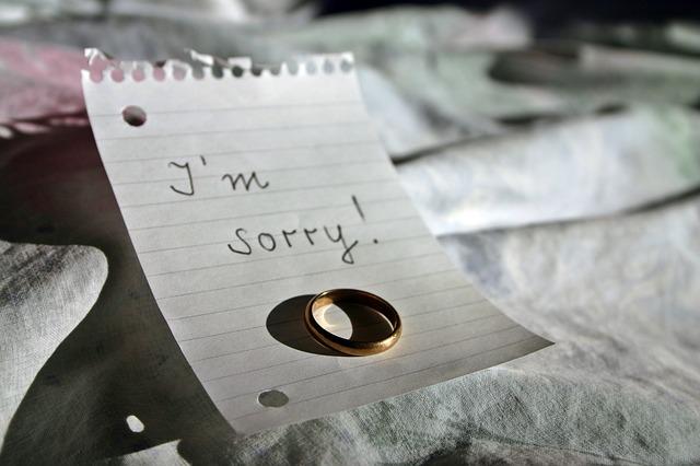 I'm sorry!の置き手紙と指輪