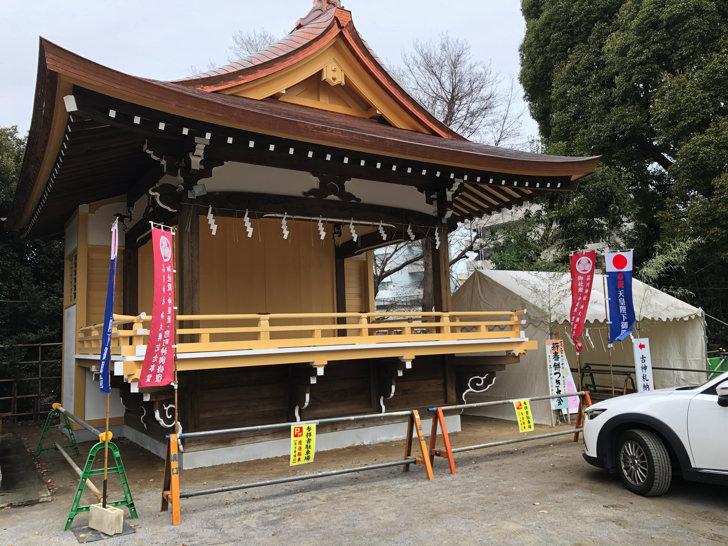 品川神社の駐車スペース