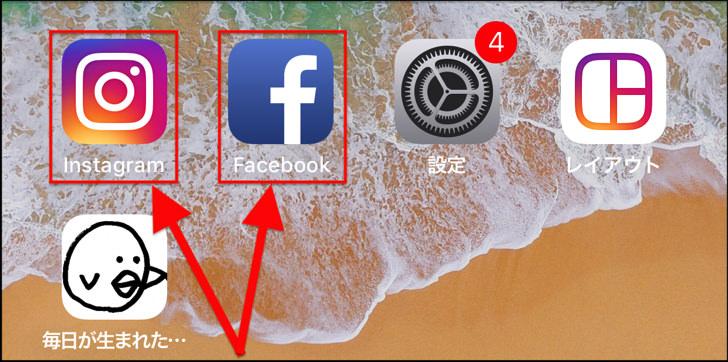 インスタとフェイスブック