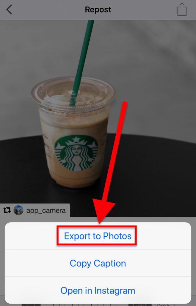 export to photos