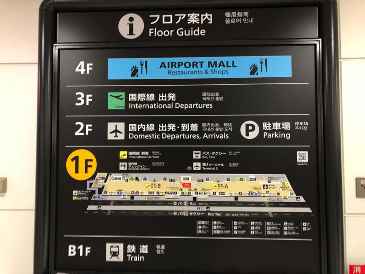 成田空港フロア案内
