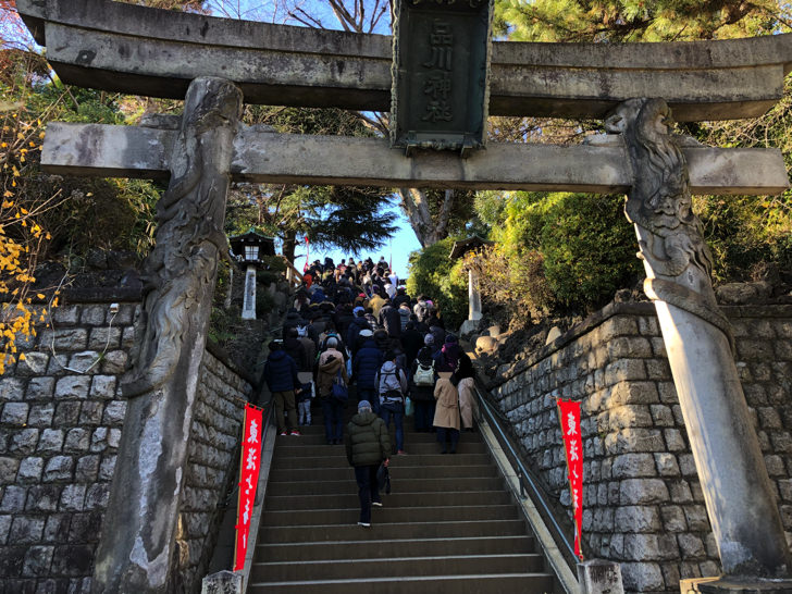 品川神社階段