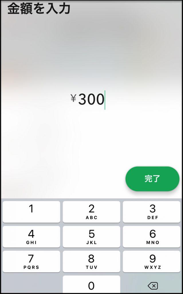 金額指定画面