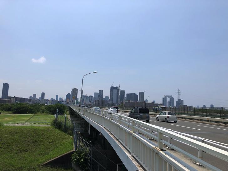 淀川にかかる橋