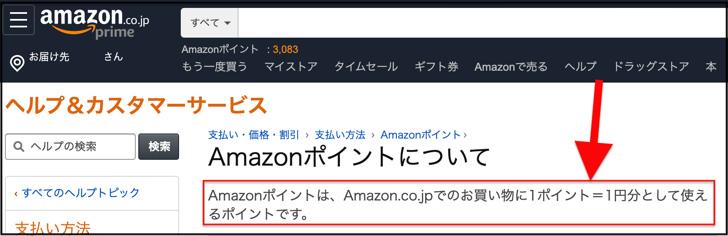 Amazonポイント1pt=1yen