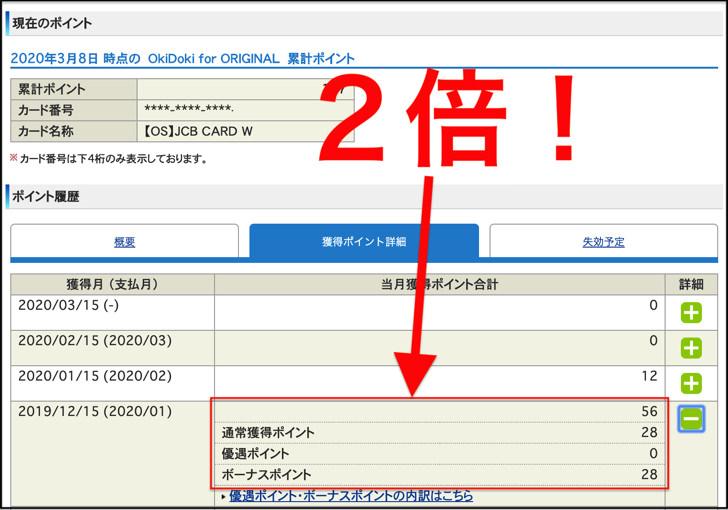 Oki Dokiポイント2倍(myJCB)