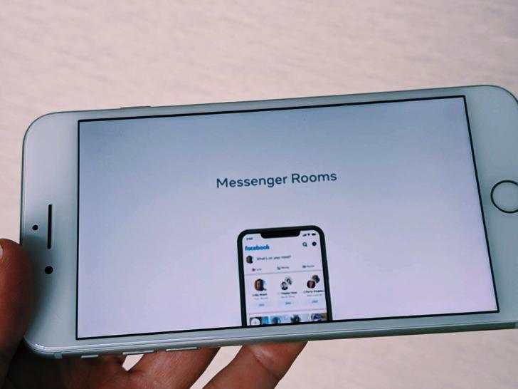 iPhone画面で見るmessengerroomsのデモ