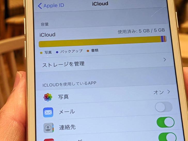 iCloudのストレージ