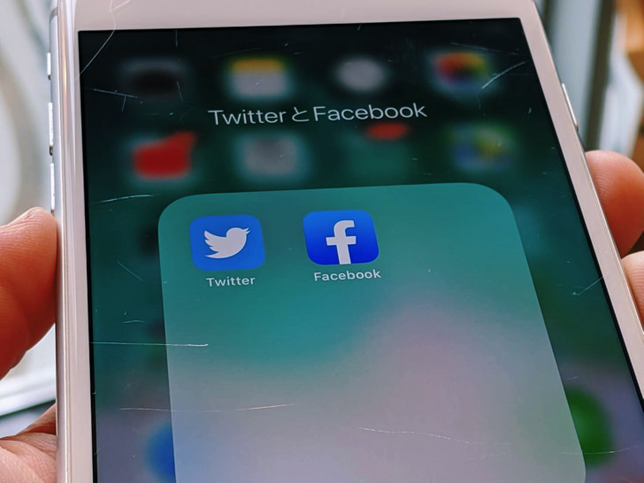 TwitterとFacebook(iPhone)