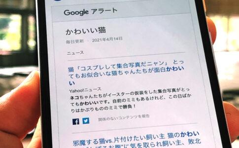 Gmailで受信したグーグルアラート